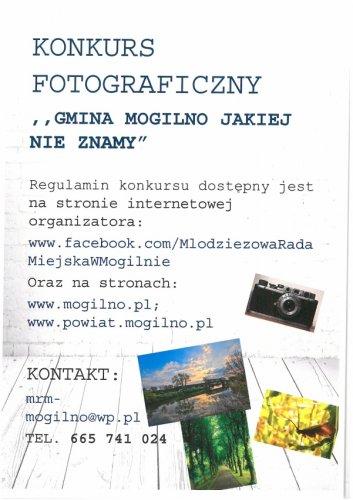 Konkurs fotograficzny ,,Gmina Mogilno jakiej nie znamy˝