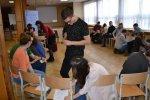 Spotkanie zeurowolontariuszami wZespole Szkół wMogilnie